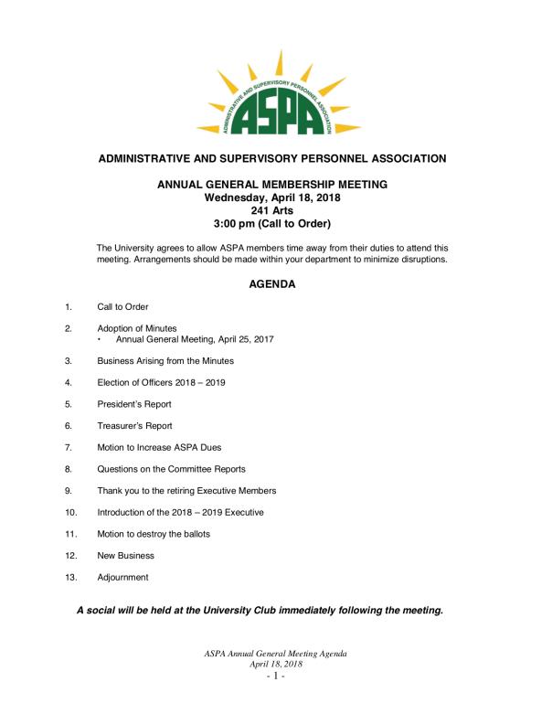 2018 AGM Agenda Apr 18